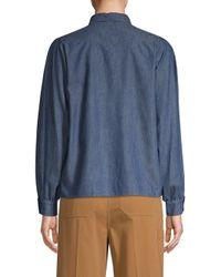 Weekend by Maxmara Blue Acqui Woven Shirt