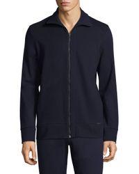 Hanro Blue Benjamin Full-zip Stretch Jacket for men