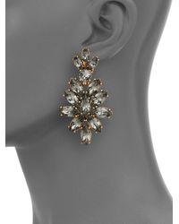 Oscar de la Renta - Gray Bridal Navette Drop Earrings - Lyst