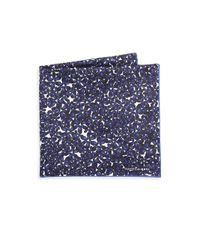 Hook + Albert | Blue Islets Silk Pocket Square | Lyst
