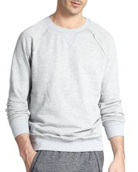 2xist - Gray Terry Pullover Sweatshirt for Men - Lyst