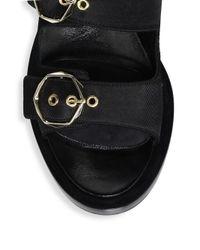 Nicholas Kirkwood Black Casati Pearl Two-strap Sandals