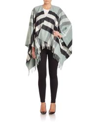 Burberry - Multicolor Collette Merino Wool & Cashmere Check Cape - Lyst