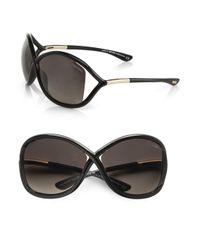 Tom Ford Black Whitney 64mm Polarized Injected Sunglasses