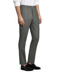 Officine Generale Gray Paul Straight-fit Birdseye Flannel Wool Pants for men