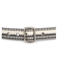 Saint Laurent - Black Cotton Fabric Belt - Lyst