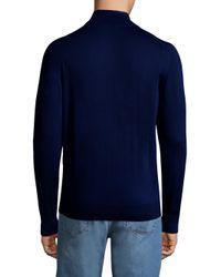Luciano Barbera - Blue Zip Mockneck Sweater for Men - Lyst