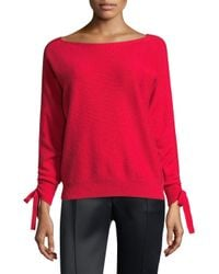 Joie - Red Dannee Boat-neck Wool-cashmere Sweater - Lyst
