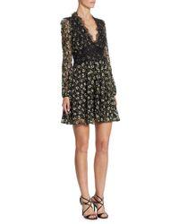 Giambattista Valli - Black Floral Macrame & Lace Dress - Lyst