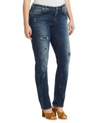Marina Rinaldi Blue Distressed Jeans