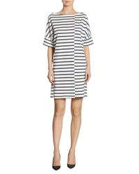 Burberry Blue Striped Jersey T-shirt Dress