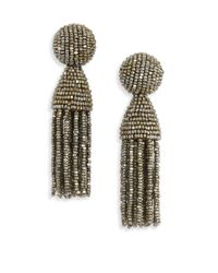 Oscar de la Renta - Multicolor Tassel Clip-on Earrings - Lyst