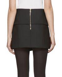 Balmain - Black Asymmetrical Mini Skirt - Lyst