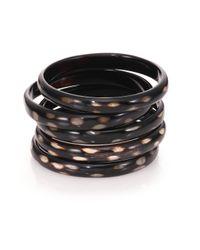 Nest - Metallic Spotted Horn Five-bangle Bracelet Set - Lyst