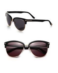 Tom Ford - Black Fany 59mm Square Sunglasses - Lyst