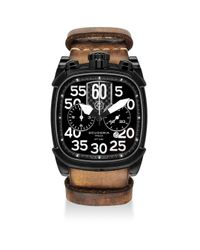 CT Scuderia Multicolor Scrambler Ion-plated Stainless Steel & Leather Strap Watch for men