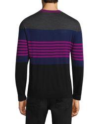 Paul Smith - Purple Multi-stripe Crewneck Wool Sweater for Men - Lyst