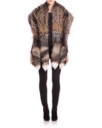 Saks Fifth Avenue - Multicolor Fox Fur Stole - Lyst