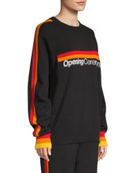 Opening Ceremony Black Logo Knit Sweater