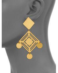 Paula Mendoza Metallic Ianimi Kamibiru Earrings