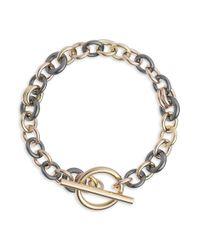 Spinelli Kilcollin Metallic Atlantis 18k Yellow Gold & Black Rhodium-plated Chain Bracelet
