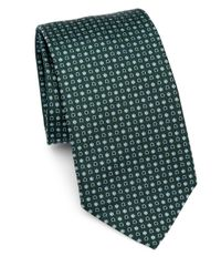 Ferragamo | Green Gancini Flower Silk Tie for Men | Lyst