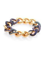Pomellato Metallic Tango Aquamarine, Tanzanite, Blue Sapphire & 18k Rose Gold Bracelet