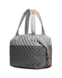 MZ Wallace Multicolor Quilted Tin/steel Metallic Large Sutton
