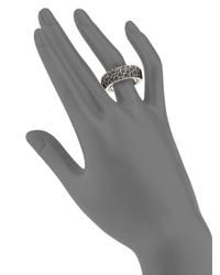 King Baby Studio - Black Sterling Silver Lava Rock Textured Band Ring for Men - Lyst