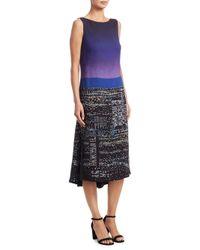 Akris Punto - Multicolor Twilight City Print Midi Dress - Lyst