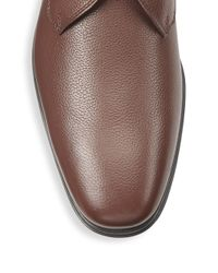 Ferragamo | Brown Fortunato Leather Derby Shoes for Men | Lyst