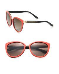 Jimmy Choo Pink Danas 56mm Modified Cat Eye Sunglasses