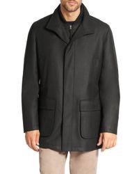 Saks Fifth Avenue - Gray Wool Overcoat for Men - Lyst
