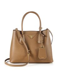Prada Brown Double Leather Tote