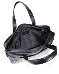 Emporio Armani - Black Vitello Laptop Case for Men - Lyst