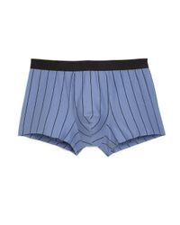 Hanro - Blue Striped Cotton Boxer Briefs for Men - Lyst