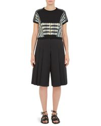Carven - Black Floating Yarn T-shirt - Lyst