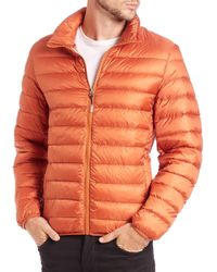 Tumi | Orange Convertible Puffer Jacket for Men | Lyst