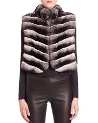 Saks Fifth Avenue - Natural Chinchilla Fur Vest - Lyst