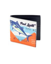 Paul Smith Blue Leather Tuna Bi-fold Wallet for men