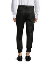 Neil Barrett - Black Rib Cuff Pants for Men - Lyst