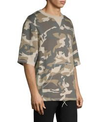 Wesc Gray Madison Camouflage Crewneck Sweatshirt for men