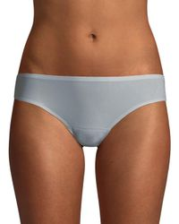 Chantelle Blue Soft Stretch Seamless Low Rise Bikini Briefs