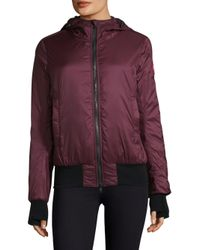 Canada Goose Purple Women's Dore Hooded Down Bomber Jacket - Black - Size Xs