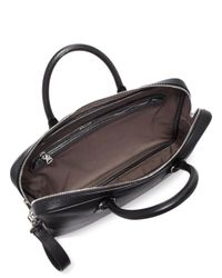 Bally - Black Pebbled Calf Leather Briefcase for Men - Lyst