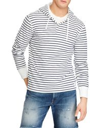 Polo Ralph Lauren - Blue Duofold Stripe Pullover Hoodie for Men - Lyst
