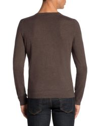 Isaia - Natural Long Sleeve Cashmere Tee for Men - Lyst
