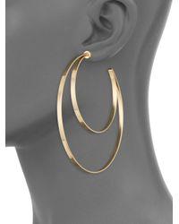 Jennifer Zeuner - Metallic Zume Double Hoop 18k Yellow Vermeil Earrings - Yellow Gold - Lyst