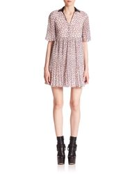 Giamba | Multicolor Collared Mini Dress | Lyst