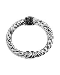 David Yurman Metallic Cable Berries Faceted Gemstone & Sterling Silver Bracelet